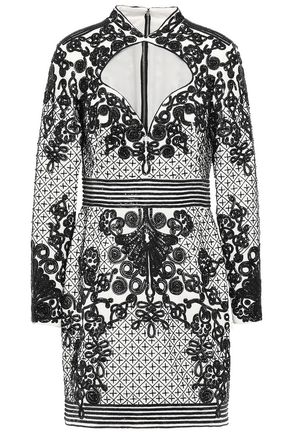 ZUHAIR MURAD Embellished silk-blend mini dress