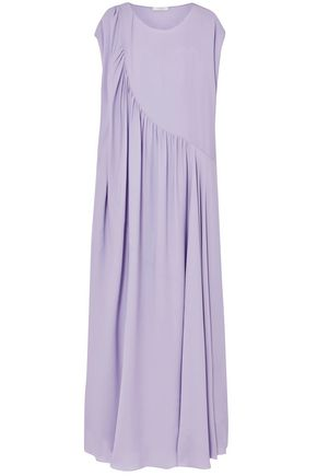 THE ROW Medea asymmetric washed-silk gown