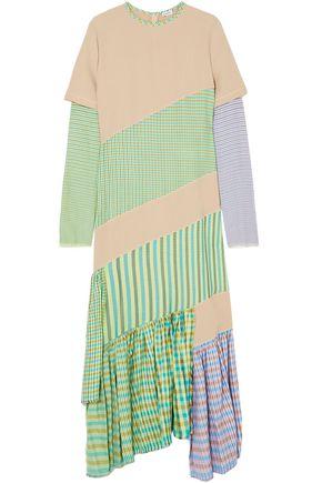 LOEWE Patchwork plaid cotton dress