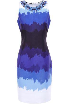 KATE SPADE New York Embellished printed woven mini dress