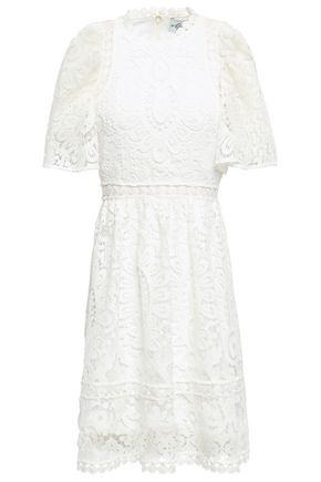 KATE SPADE New York Lattice-trimmed guipure lace mini dress