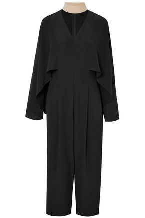 FENDI Draped silk crepe de chine jumpsuit