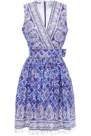 KATE SPADE New York Devoré cotton-blend dress
