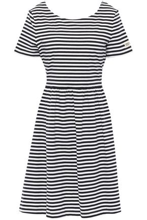 KATE SPADE New York Cutout striped stretch-cotton jersey dress
