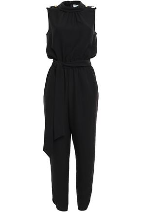 KATE SPADE New York Cropped belted cady jumpsuit