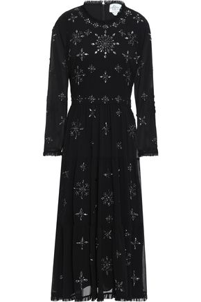 KATE SPADE New York Embellished georgette midi dress