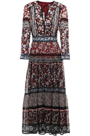 KATE SPADE New York Studded floral-print voile maxi dress