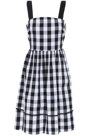 KATE SPADE New York Gingham cotton-poplin mini dress