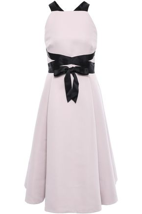 KATE SPADE New York Open-back bow-detailed faille midi dress