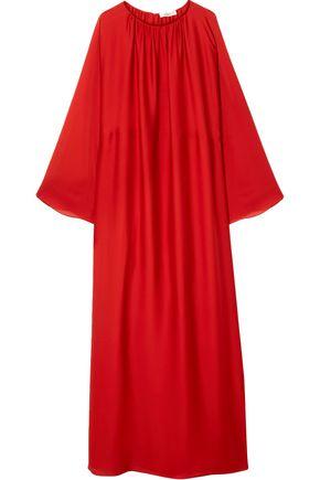 THE ROW Gathered silk maxi dress