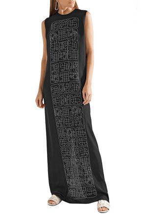 THE ROW 刺繍入り シルクシフォン ロングドレス
