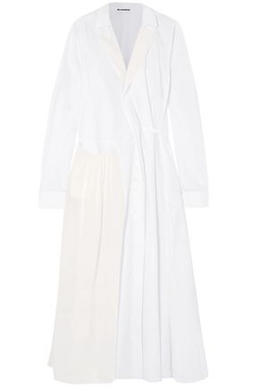 JIL SANDER Cotton-poplin coat