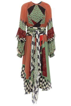 ETRO Printed silk-georgette midi dress