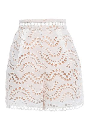 ZIMMERMANN Broderie anglaise cotton shorts
