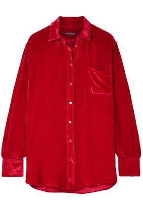 SIES MARJAN Sander silk and cotton-blend corduroy shirt