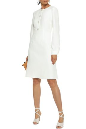 MIKAEL AGHAL Button-embellished cady dress