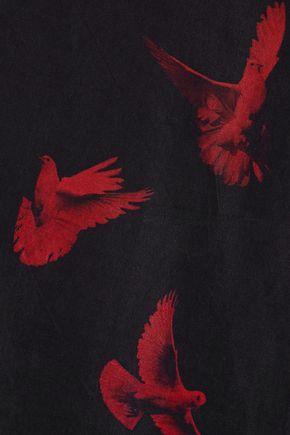 AMIRI Oversized printed washed-satin shirt