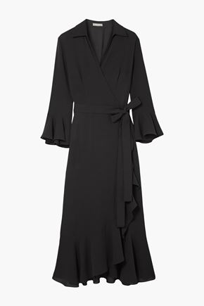 MICHAEL KORS COLLECTION Ruffled silk-georgette wrap dress