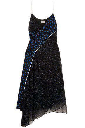 GREY JASON WU Polka-dot silk midi dress