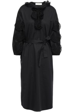 ZIMMERMANN Broderie anglaise-trimmed cotton-poplin dress