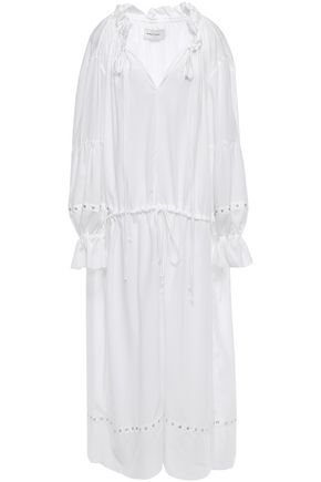 MARQUES' ALMEIDA Eyelet-embellished gathered Tencel maxi dress