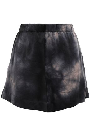 MARQUES' ALMEIDA Tie-dyed washed-silk shorts