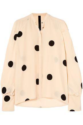PETAR PETROV Polka-dot silk crepe de chine blouse