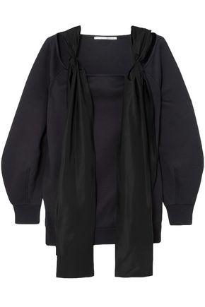 STELLA McCARTNEY Satin-trimmed cotton-blend sweatshirt
