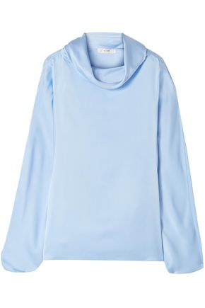 THE ROW Iona draped silk-satin blouse