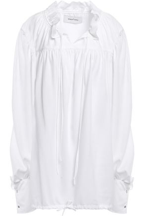 MARQUES' ALMEIDA Gathered woven blouse
