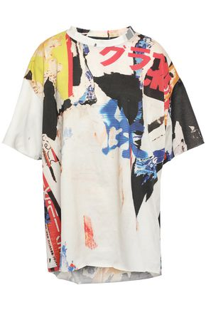 MARQUES' ALMEIDA Oversized printed cotton-jersey T-shirt