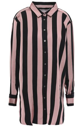 MARQUES' ALMEIDA Embellished striped twill shirt