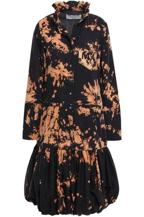 MARQUES' ALMEIDA Embroidered printed cotton dress
