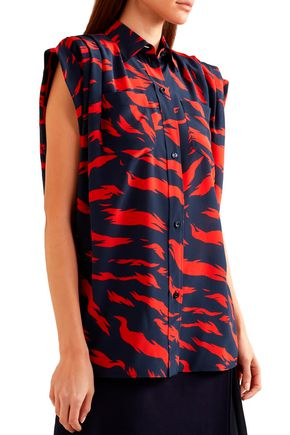 GIVENCHY Printed silk crepe de chine blouse