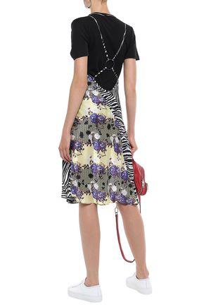 OPENING CEREMONY Open-back silk-satin slip dress