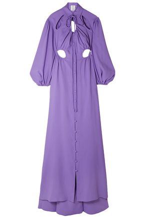 ROSIE ASSOULIN Cry Baby cutout crepe gown