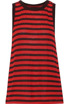 CURRENT/ELLIOTT The Easy striped modal-blend tank