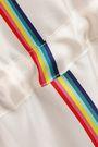 PAPER London Striped silk-twill midi dress