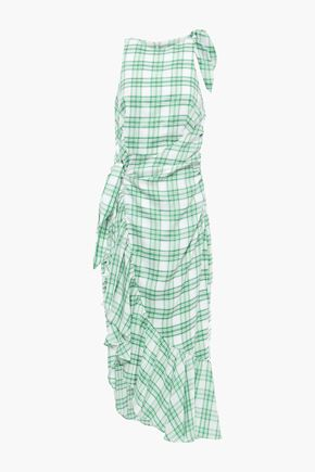 Image result for GREEN WHITE PLAIDS GOWN
