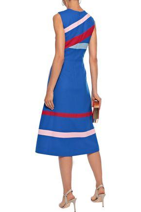 NOVIS The Landgrove striped wool-cady midi dress
