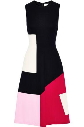 NOVIS The Pierpont color-block wool-cady dress