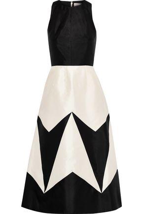 NOVIS The Devon two-tone duchesse silk-satin midi dress