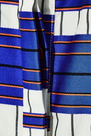 NOVIS The Carmine striped cotton-jacquard shirt