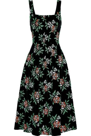NOVIS The Mumford embroidered velvet midi dress