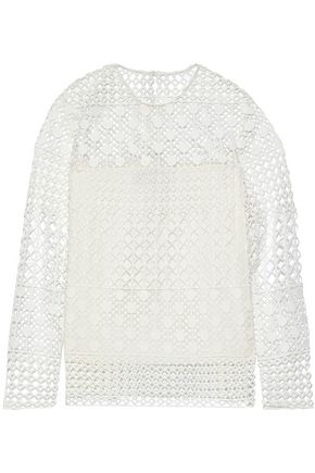 NOVIS Cotton-blend lace top