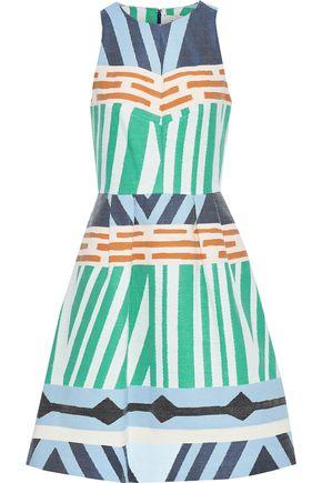 NOVIS The Rockwell pleated jacquard dress