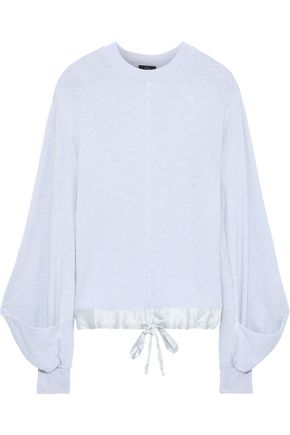 CLU Satin-trimmed slub French-terry sweatshirt