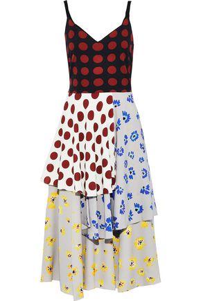 NOVIS The Alice layered printed silk midi dress