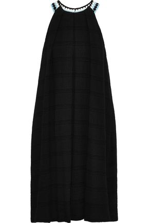 NOVIS The Dover crochet-trimmed cotton-blend gauze dress