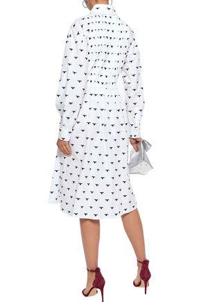 NOVIS The Larrabee embroidered cotton-blend poplin shirt dress